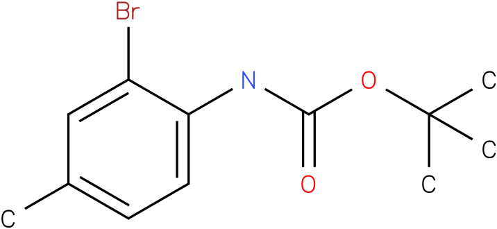 Carbamic acid,N-(2-bromo-4-methylphenyl)-,1,1-dimethylethyl ester