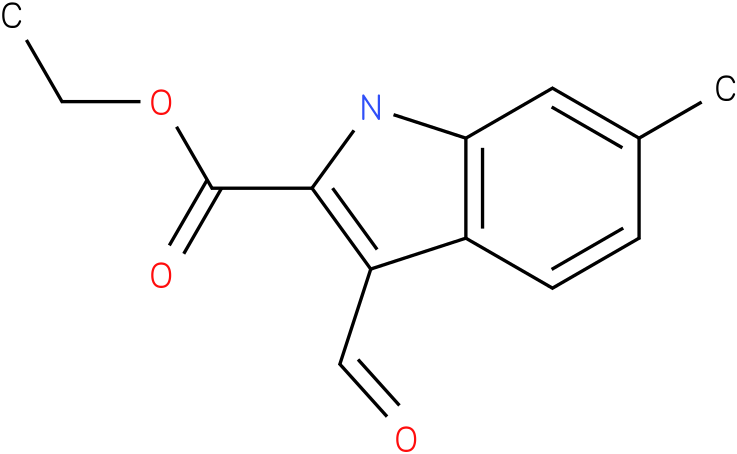 1H-INDOLE-2-CARBOXYLIC ACID,3-FORMYL-6-METHYL-,ETHYL ESTER