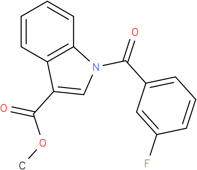 1H-INDOLE-3-CARBOXYLIC ACID,1-(3-FLUOROBENZOYL)-,METHYL ESTER
