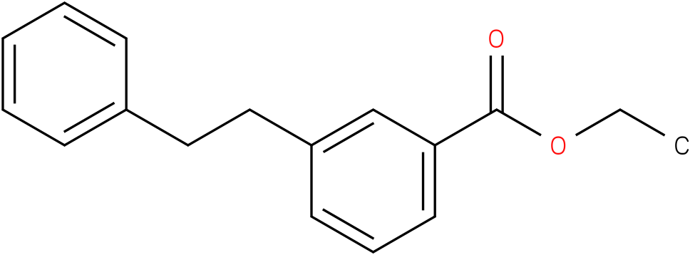 BENZOIC ACID,3-(2-PHENYLETHYL)-,ETHYL ESTER