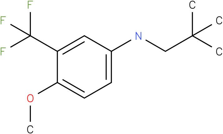 3-(trifluoromethyl)-4-methoxy-N-neopentylbenzenamine