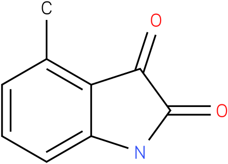 1H-INDOLE-2,3-DIONE,4-METHYL-