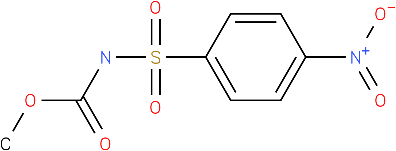 CARBAMIC ACID,[(4-NITROPHENYL)SULFONYL]-,METHYL ESTER (9Cl)