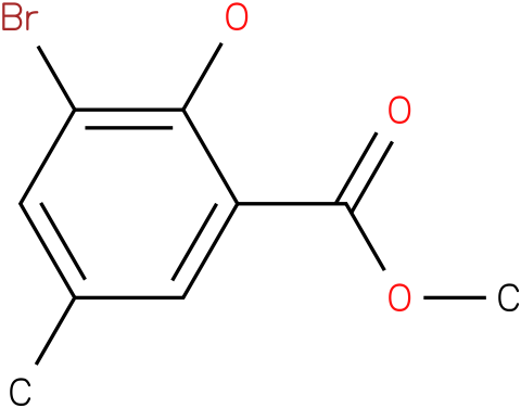 BENZOIC ACID,3-BROMO-2-HYDROXY-5-METHYL-,METHYL ESTER
