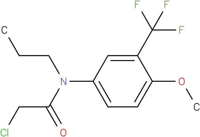 2-chloro-N-(3-(trifluoromethyl)-4-methoxyphenyl)-N-propylacetamide