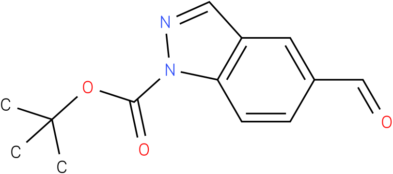 1H-INDAZOLE-1-CARBOXYLIC ACID,5-FORMYL-,1,1-DIMETHYLETHYL ESTER