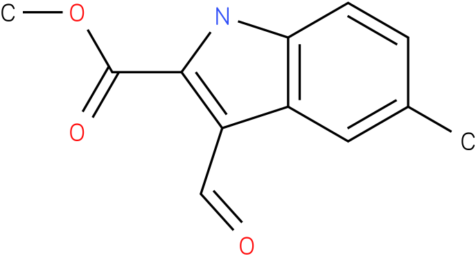 1H-INDOLE-2-CARBOXYLIC ACID,3-FORMYL-5-METHYL-,METHYL ESTER
