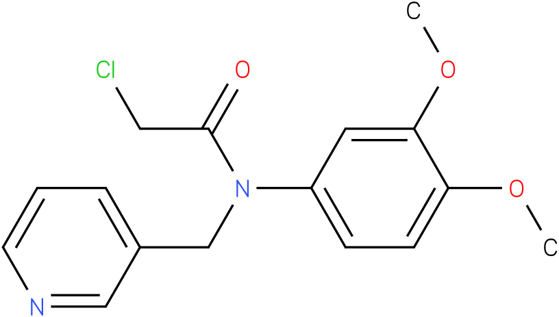 2-chloro-N-(3,4-dimethoxyphenyl)-N-((pyridin-3-yl)methyl)acetamide