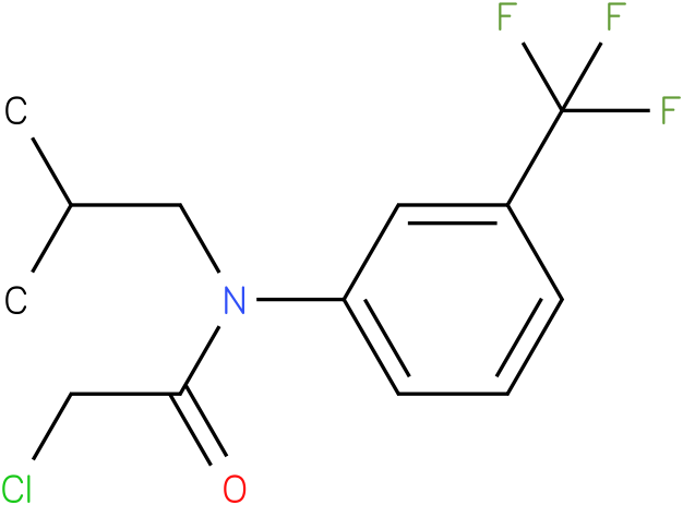 2-chloro-N-(3(trifluoromethyl)phenyl)-N-isobutylacetamide