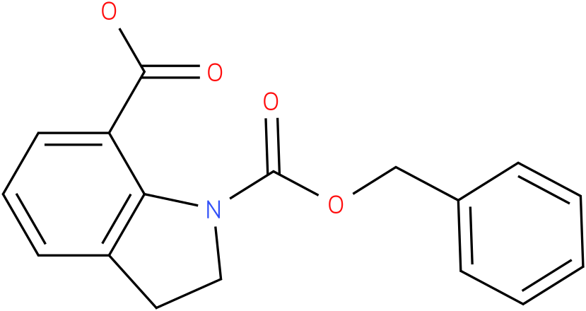 1-((BENZYLOXY)CARBONYL)INDOLINE-7-CARBOXYLIC ACID