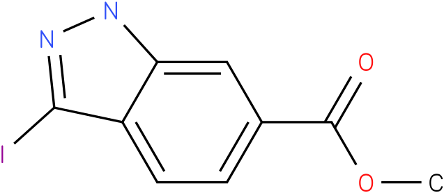 1H-INDAZOLE-6-CARBOXYLIC ACID,3-IODO-,METHYL ESTER