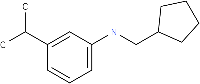 N-(cyclopentylmethyl)-3-isopropylbenzenamine