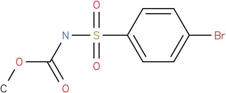 CARBAMIC ACID,[(p-BROMOPHENYL)SULFONYL]-,METHYL ESTER (7Cl,8Cl)