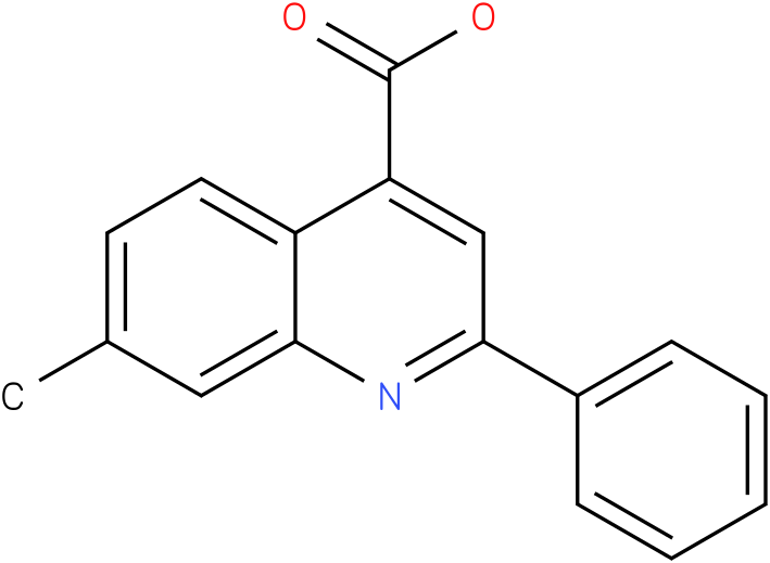 4-QUINOLINECARBOXYLIC ACID,7-METHYL-2-PHENYL-