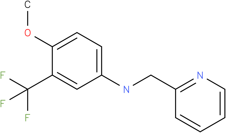 3-(trifluoromethyl)-4-methoxy-N-((pyridin-2-yl)methyl)benzenamine