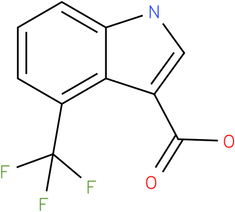 1H-INDOLE-3-CARBOXYLIC ACID,4-(TRIFLUOROMETHYL)-