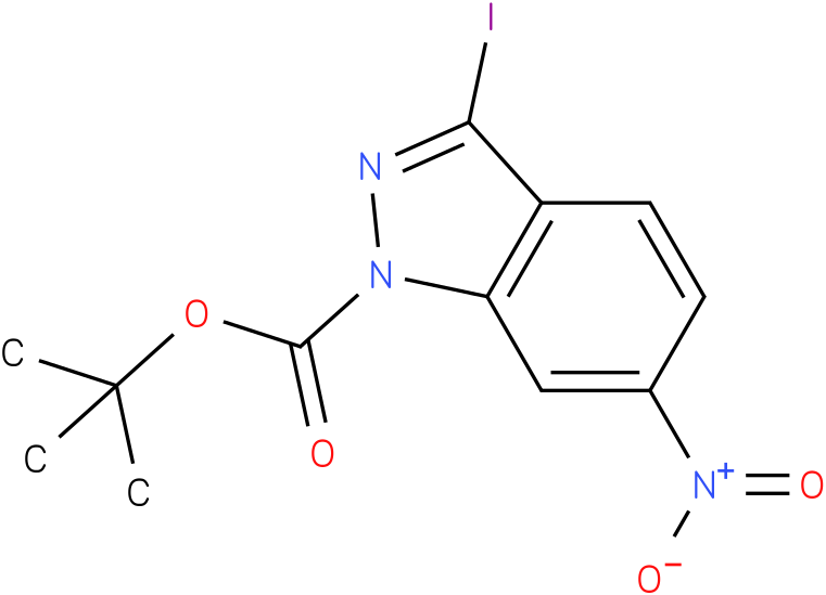 1H-INDAZOLE-1-CARBOXYLIC ACID,3-IODO-6-NITRO-,1,1-DIMETHYLETHYL ESTER