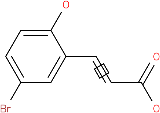 5-bromo-2-hydroxycinnamic acid