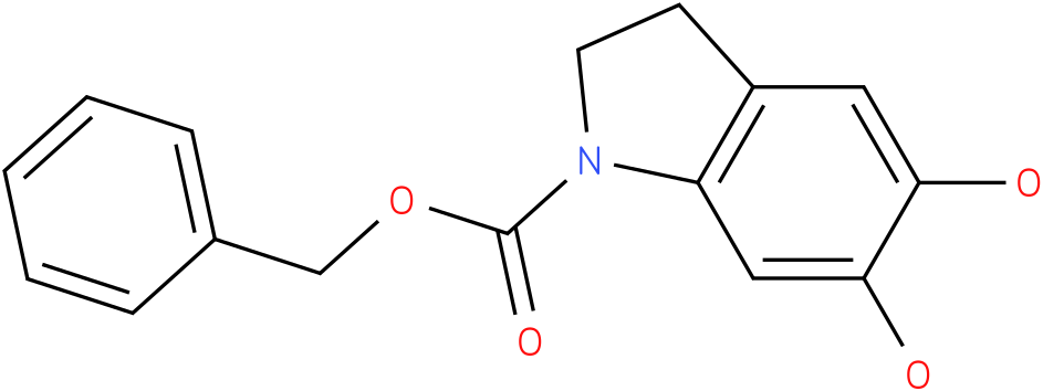 1H-INDOLE-1-CARBOXYLIC ACID,2,3-DIHYDRO-5,6-DIHYDROXY-,PHENYLMETHYL ESTER