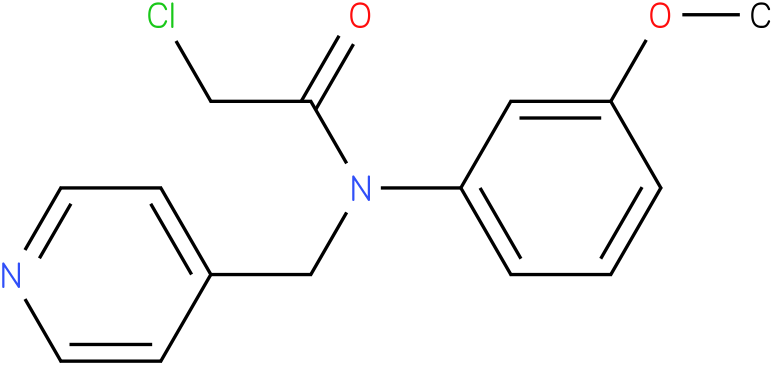 2-chloro-N-(3-methoxyphenyl)-N-((pyridin-4-yl)methyl)acetamide