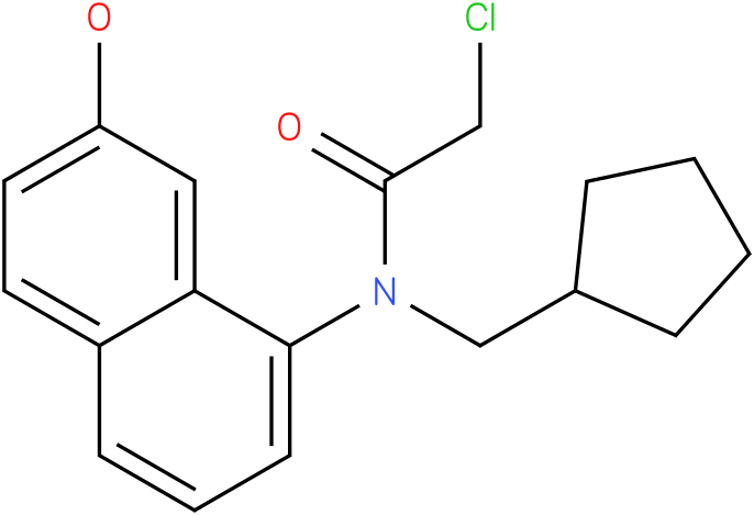 2-chloro-N-(cyclopentylmethyl)-N-(2-hydroxynaphthalen-8-yl)acetamide