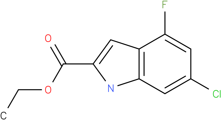 ETHYL 6-CHLORO-4-FLUORO-1H-INDOLE-2-CARBOXYLATE