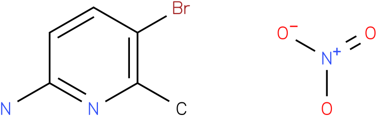 2-Pyridinamine,5-bromo-6-methyl-,nitrate (1:1)