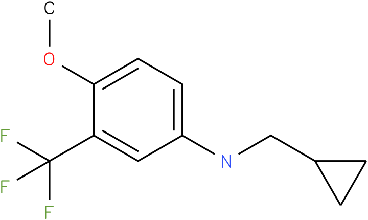 N-(cyclopropylmethyl)-3-(trifluoromethyl)-4-methoxybenzenamine