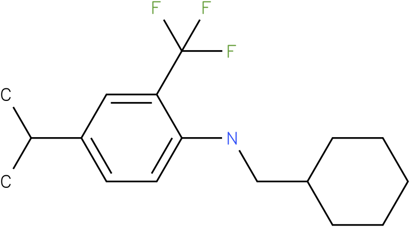 N-(cyclohexylmethyl)-2-(trifluoromethyl)-4-isopropylbenzenamine