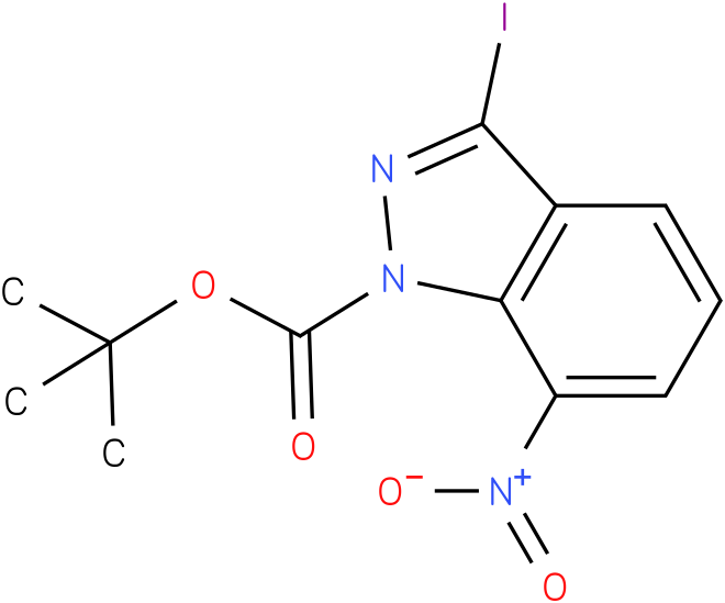 1H-INDAZOLE-1-CARBOXYLIC ACID,3-IODO-7-NITRO-,1,1-DIMETHYLETHYL ESTER