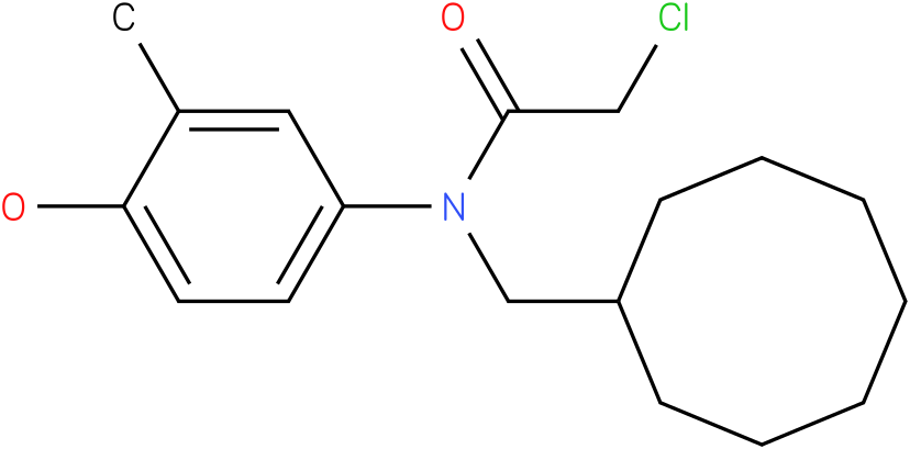 2-chloro-N-(cyclooctylmethyl)-N-(4-hydroxy-3-methylphenyl)acetamide