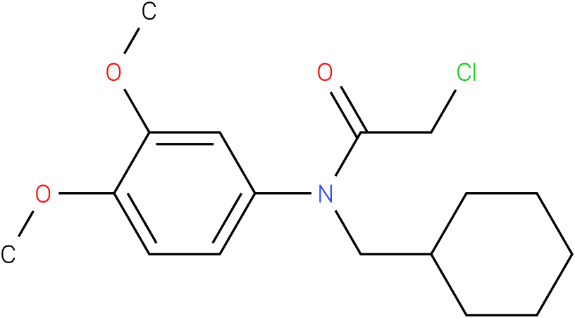 2-chloro-N-(cyclohexylmethyl)-N-(3,4-dimethoxyphenyl)acetamide