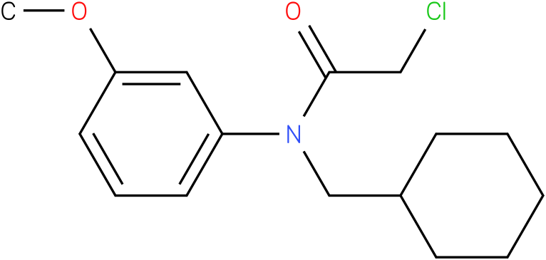 2-chloro-N-(cyclohexylmethyl)-N-(3-methoxyphenyl)acetamide