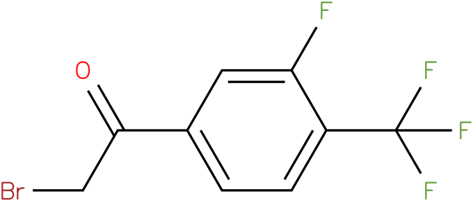 3-fluoro-4-(trifluormethyl) phenacyl bromide