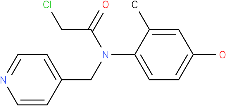2-chloro-N-(4-hydroxy-2-methylphenyl)-N-((pyridin-4-yl)methyl)acetamide
