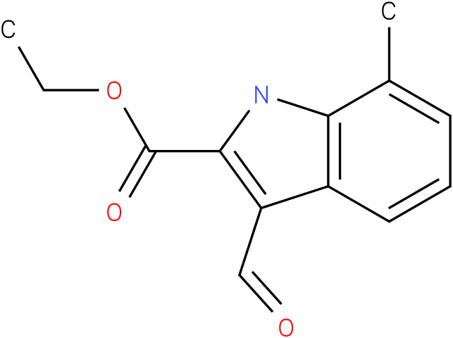 1H-INDOLE-2-CARBOXYLIC ACID,3-FORMYL-7-METHYL-,ETHYL ESTER