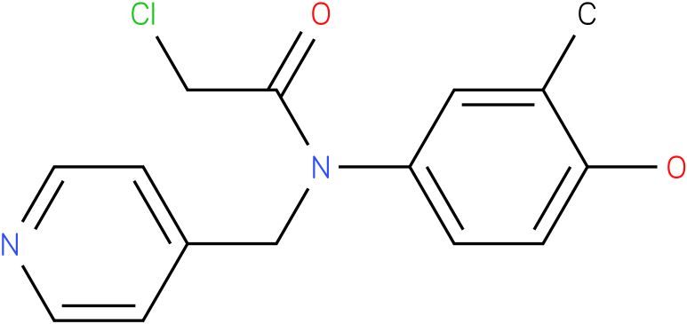 2-chloro-N-(4-hydroxy-3-methylphenyl)-N-((pyridin-4-yl)methyl)acetamide