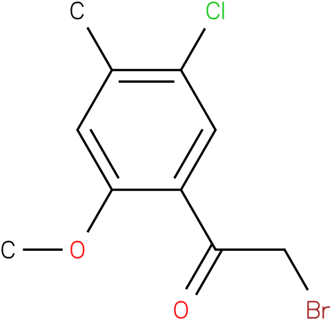 2-bromo-1-(5-chloro-2-methoxy-4-methyl-phenyl)ethanone