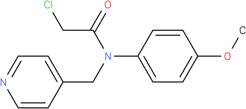 2-chloro-N-(4-methoxyphenyl)-N-((pyridin-4-yl)methyl)acetamide