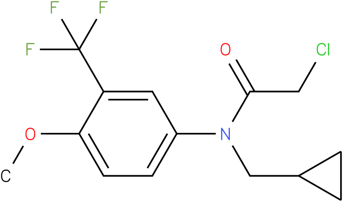 2-chloro-N-(cyclopropylmethyl)-N-(3-(trifluoromethyl)-4-methoxyphenyl)acetamide