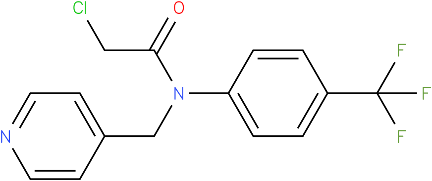 2-chloro-N-(4-(trifluoromethyl)phenyl)-N-((pyridin-4-yl)methyl)acetamide