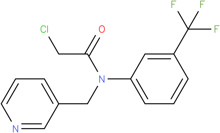 2-chloro-N-(3-(trifluoromethyl)phenyl)-N-((pyridin-3-yl)methyl)acetamide