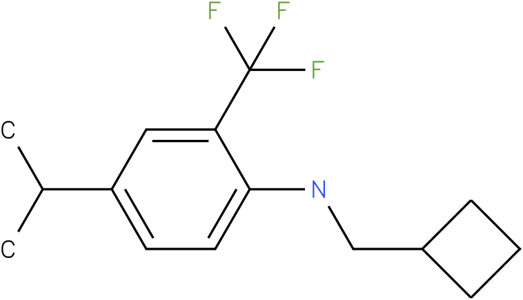 N-(cyclobutylmethyl)-2-(trifluoromethyl)-4-isopropylbenzenamine