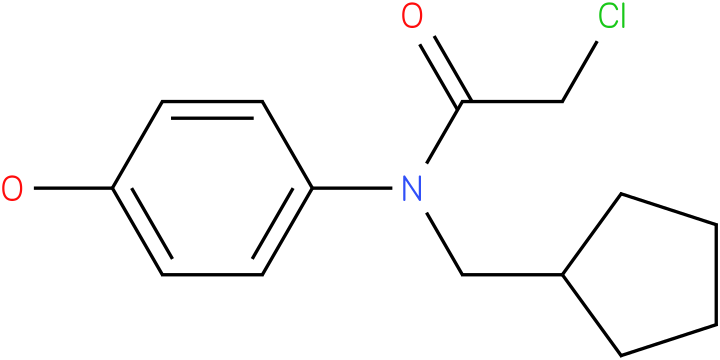 2-chloro-N-(cyclopentylmethyl)-N-(4-hydroxyphenyl)acetamide