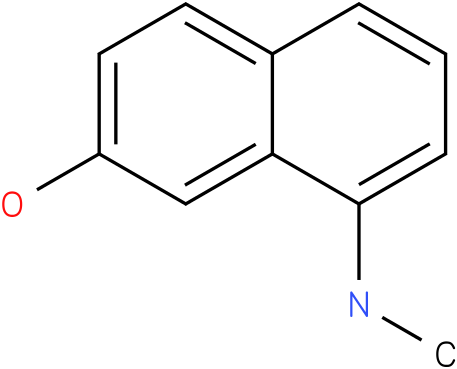 8-(methylamino)naphthalen-2-o1