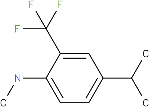 2-(trifluoromethyl)-4-isopropyl-N-methylbenzenamine