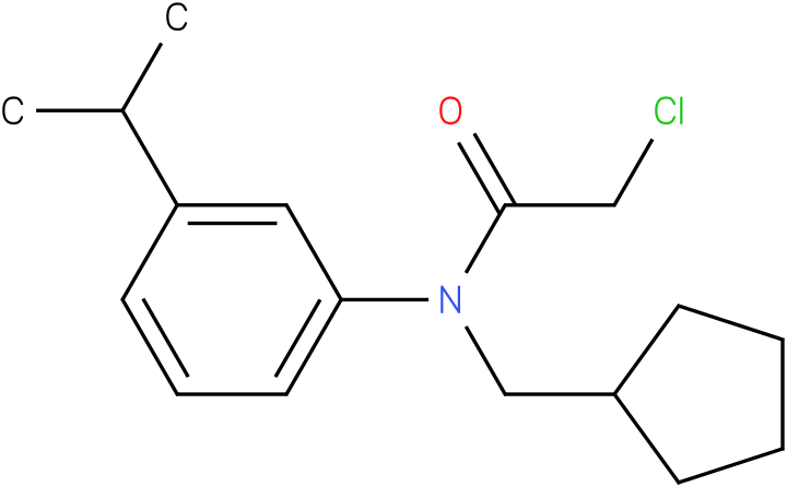 2-chloro-N-(cyclopentylmethyl)-N-(3-isopropylphenyl)acetamide