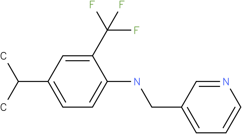 2-(trifluoromethyl)-4-isopropyl-N-((pyridin-3-yl)methyl)benzenamine