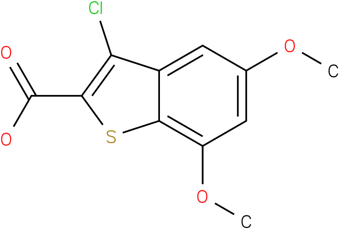 3-chloro-5,7-dimethoxy-1-benzothiophene-2-carboxylic acid