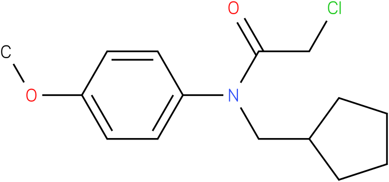 2-chloro-N-(cyclopentylmethyl)-N-(4-methoxyphenyl)acetamide